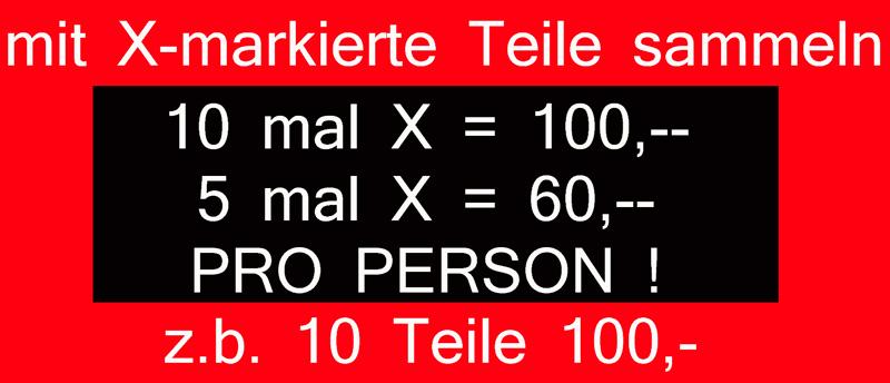 10 teile 100 euro bei kaufhaus schrill