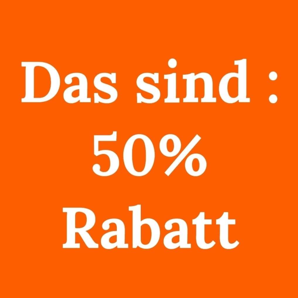 50 % rabatt